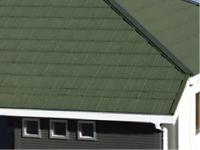 自然石粒仕上げ屋根材の写真