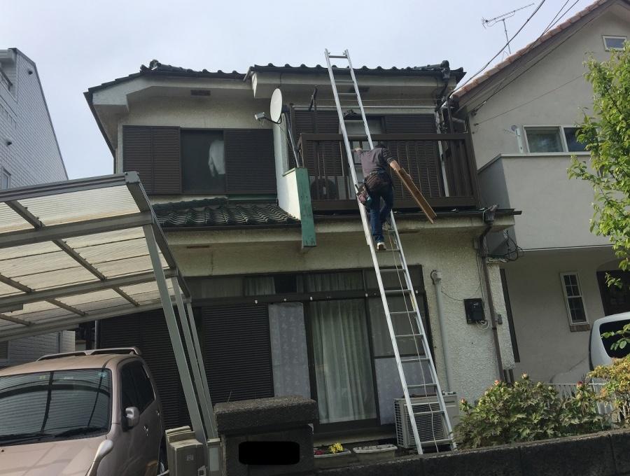 埼玉県所沢市で瓦屋根葺き替え・雨樋交換の御見積ご依頼で現地調査