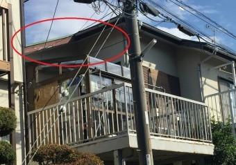 川越市の住宅木部の破風板塗膜剥れ拡大