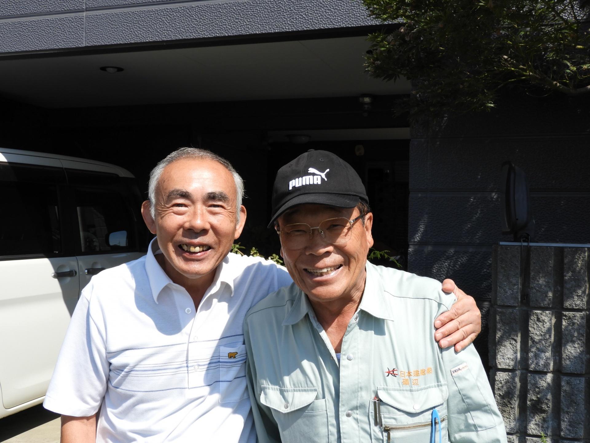 埼玉県坂戸市で2階の屋根棟板金外れて修復したお客様K様の声