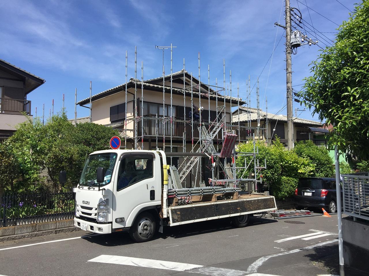 埼玉県川越市の工事でご近所様へ事前に挨拶し足場工事開始が重要