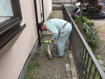 埼玉県川越市外壁塗装完工後の掃除