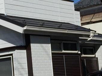 川越市金属屋根工事完工