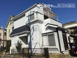 埼玉県川越の金属屋根カバー外壁塗装工事