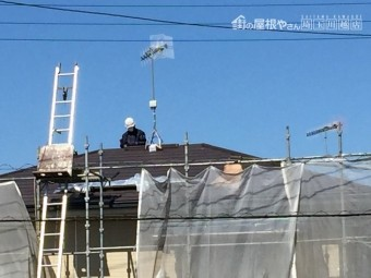 埼玉県東松山市で金属屋根カバー工事