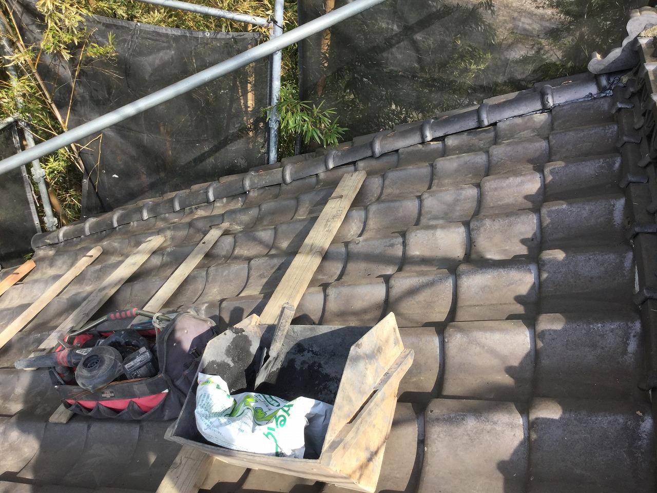 土蔵の屋根瓦修復工事