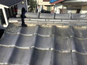 川越市瓦屋根の面戸コーキング補修は雨漏り要因