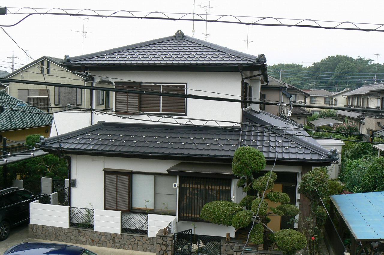 超金属軽量瓦屋根葺き替え完工
