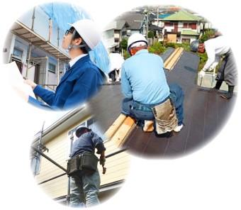 工事の作業風景